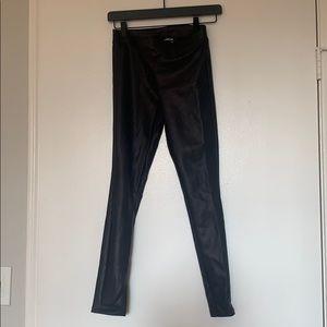 EXPRESS faux leather leggings XXSP